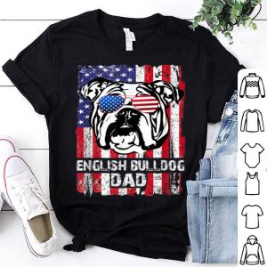 English Bulldog Dad Father's day and 4th of July shirt