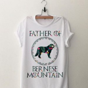 Father Of Bernese Mountain Floral shirt