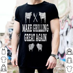 Fathers Day Grill Accessory Dad BBQ Love Grilling American Flag shirt