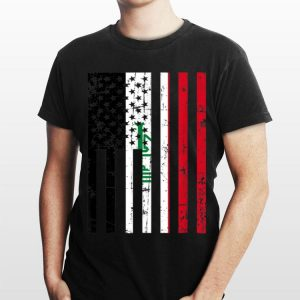 For New Us Citizen Iraq American Flag shirt