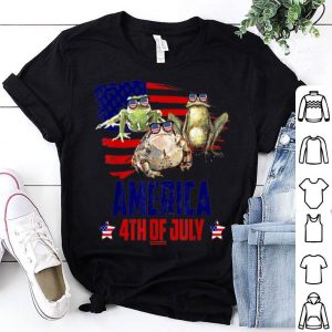 Frog Patriotic American America 4th Of July shirt