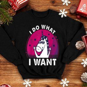 I Do What I Want Middle Finger Unicorn shirt