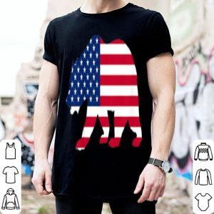 Kids 4th Of July Bear American Flag Day Independence Boys Girls shirt
