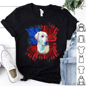 Labrador American Flag Patriotic Splash Dog shirt