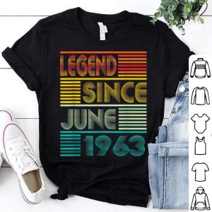 Legend Since June 1963 56th Birthday 56 Years Old shirt