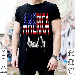 Memorial day proud american flag shirt