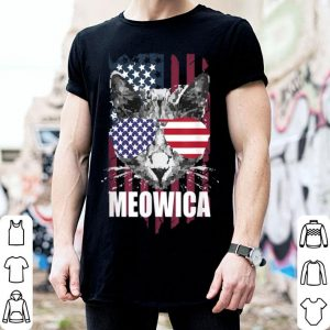 Meowica Cat America Patriotic 4th Of July shirt