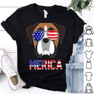 Merica Boxer 4th Of July Patriotic dog shirt