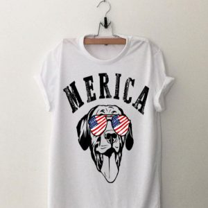 Merica Dog Sunglasses 4Th Of July American Flag shirt