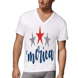 Merica stars Patriotic 4th of July Flag Labor Memorial Day shirt