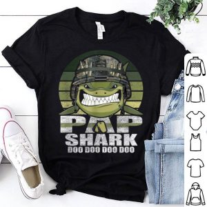 Pap Shark Doo Doo Army Veteran Father day 4th Of July shirt