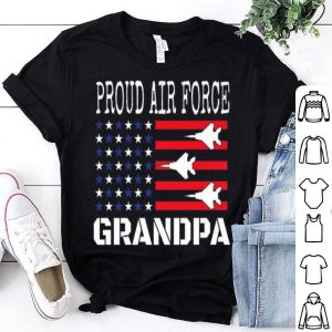 Red White Blue Air Force Grandpa Flyover Proud American Independence shirt