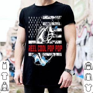 Reel Cool Pop Pop American Flag Fishing shirt