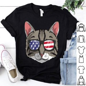 Tabby Cat Patriotic Usa 4th Of July American Kitty shirt