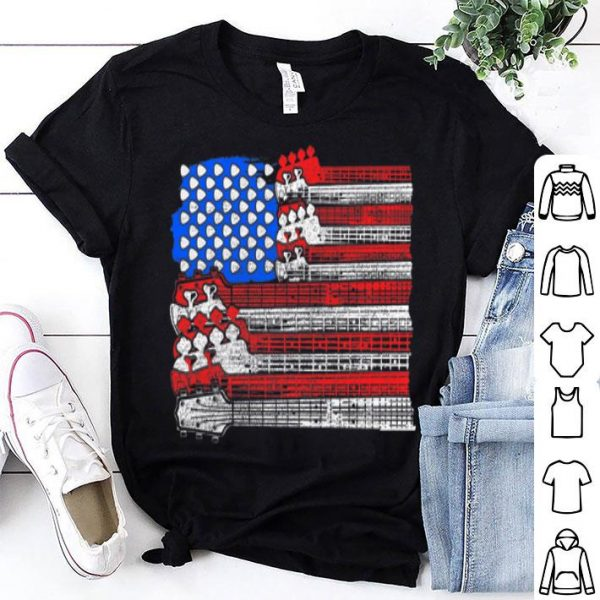 USA Flag Guitar - July 4th Music Guitarist Gift shirt