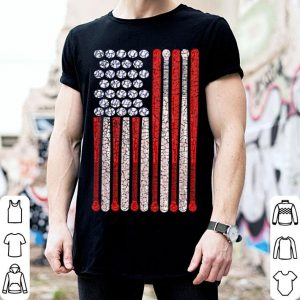 Vintage American Flag 4th July for Baseball shirt