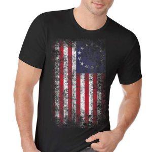 4th of July Patriotic Betsy Ross Flag 13 Colonies hoodie