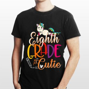 8th Grade Cutie First Day Of School Kids Gif shirt