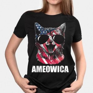 Ameowica Usa American Flag Patriot Love Cat shirt