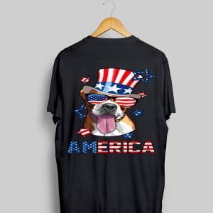 America Boxer Dog Owner 4th of July USA Flag shirt