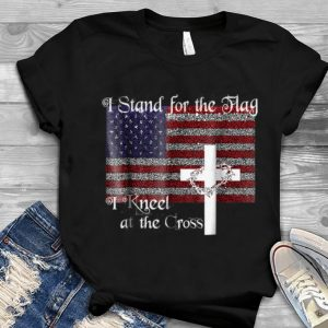 American Flag I Stand For The Flag I Kneel At The Cross The Holy Crown of Thorns Youth tee