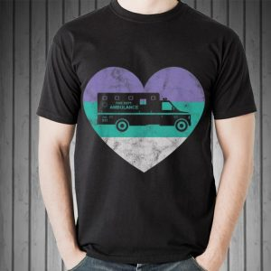 Awesome Ambulance EMS Heart Retro shirt