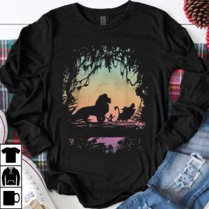 Awesome Disney Lion King Gradient Jungle Trio Graphic shirt