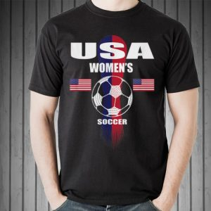 Awesome Woman United States Soccer Ball American Flag shirt