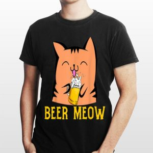 Beer Meow Cat Kitty Drinking Alcohol shirt