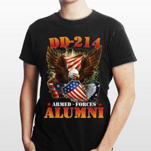 Dd 214 Us Armed Forces Alumni Usa Flag Eagle shirt