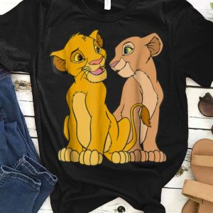 Disney The Lion King Young Simba and Nala Together guy tee