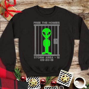 Free The Homies Area 51 Alien tank top