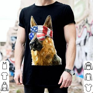 German Shepherd 4Th Of July Patriotic American Flag shirt