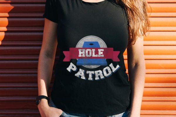 Hole Patrol Cornhole Bean Bag Toss hoodie