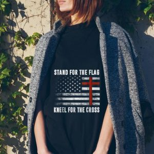 I Stand For The Flag And Kneel For The Cross American Flag tank top