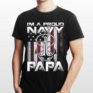 I'm A Proud Navy Papa Patriotic Sailor Usa Flag shirt