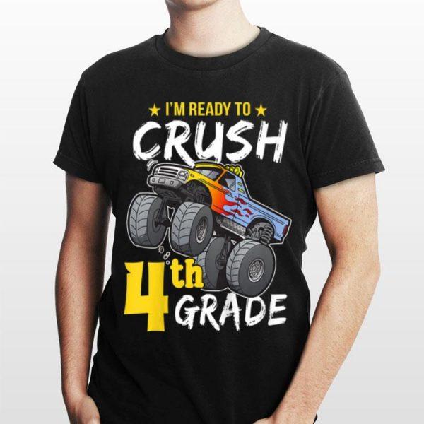 Kids 4th Grade Monster Truck Back to School Boys shirt