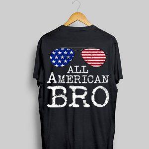 Kids All American Bro 4Th Of July American Flag Sunglasses shirt