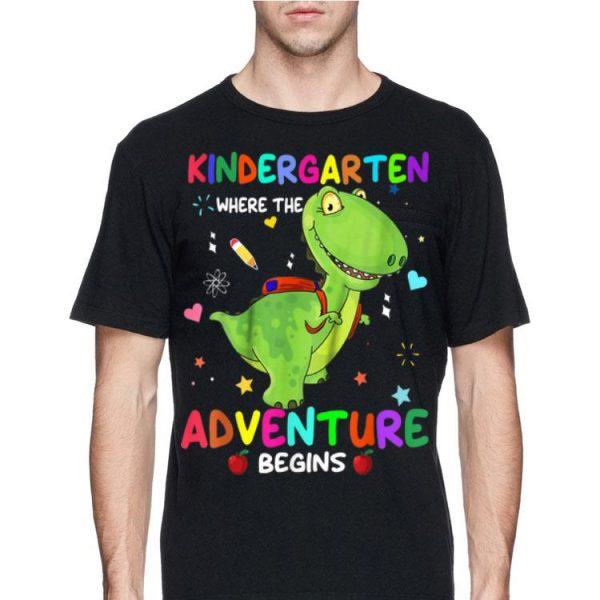 Kindergarten Where The Adventure Begins Dinosaur shirt