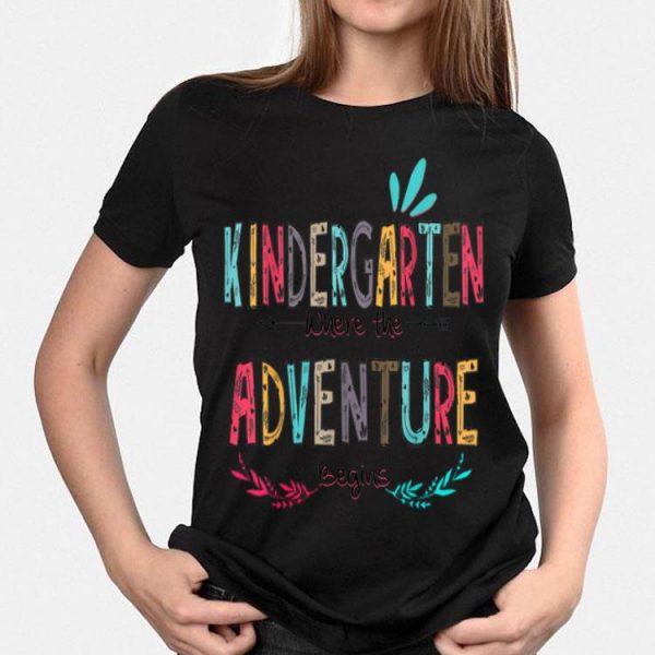 Kindergarten Where The Adventure Begins Teachers Flo shirt