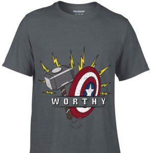 Marvel Avengers Endgame Captain America Worthy Hammer Shield Mjolnir Thor hoodie
