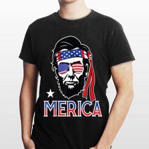 Merica Abe Lincoln 4th of July Men Boys Kids Murica shirt
