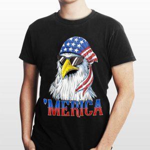 Merica Biker Eagle Sunglasses Bandana Patriotic American shirt
