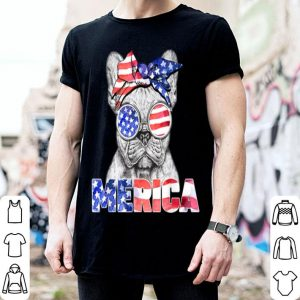Merica Frenchie Usa Flag Patriotic 4Th Of July shirt
