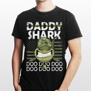 Military & Veteran Army Daddy Shark Doo Doo Doo shirt