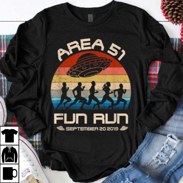 Original Area 51 Fun Run September 20 20149 Vintage UFO shirt