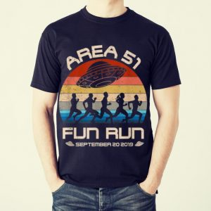 Original Area 51 Fun Run September 20 20149 Vintage UFO shirt 1