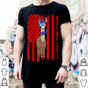 Patriotic Llama Sunglass shirt