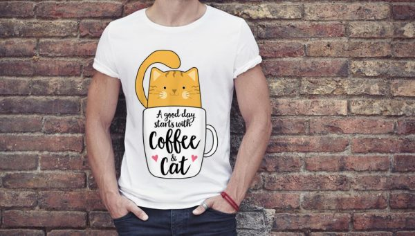 Premium A Good Day Starts With Coffee And Cat shirt