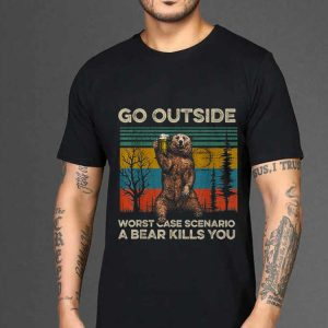 Premium Go Outside Worst Case Scenario A Bear Kills You Vintage shirt 1